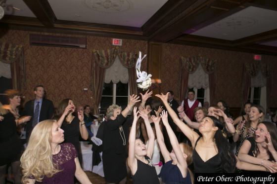 Rowsley Estate Wedding- bouquet toss