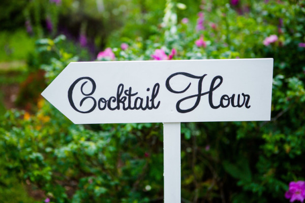 cocktail hour sign