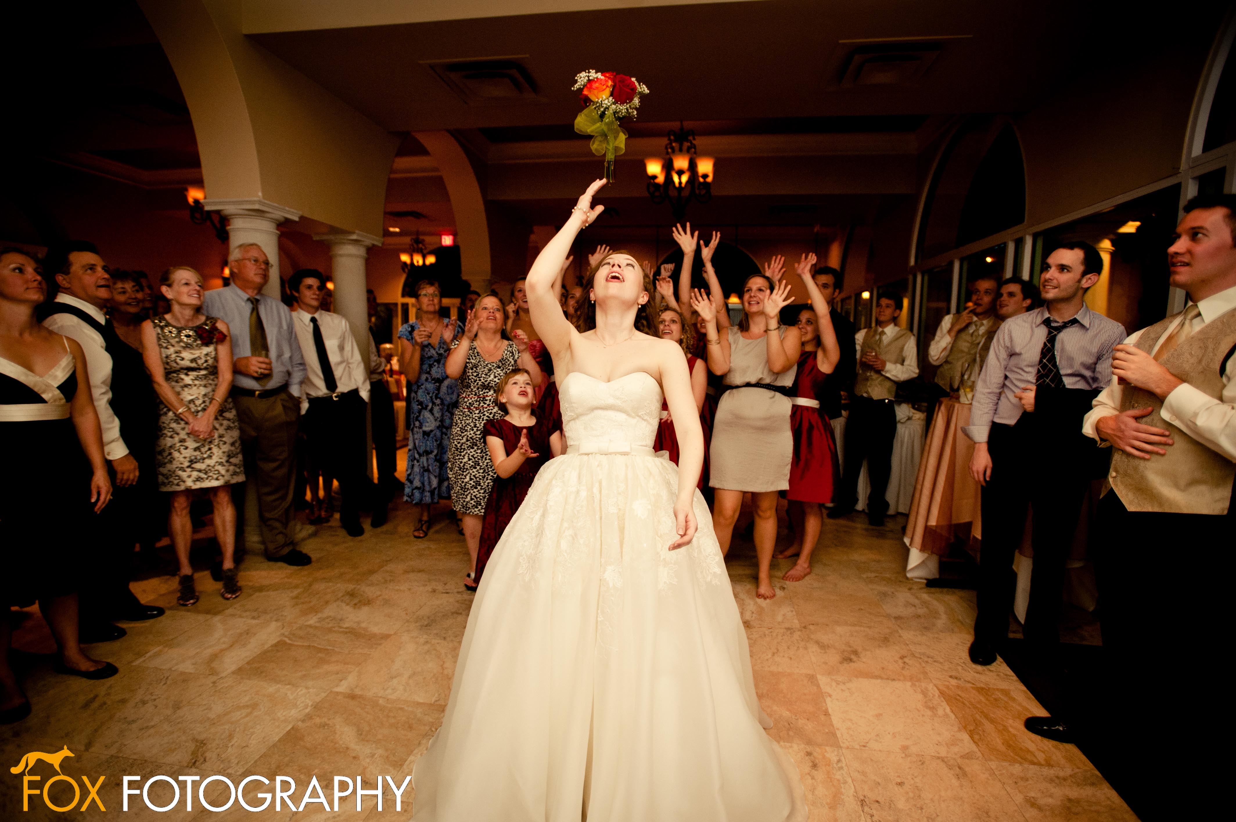 Bridal Bouquet Throwing : Wedding traditions explained bouquet toss