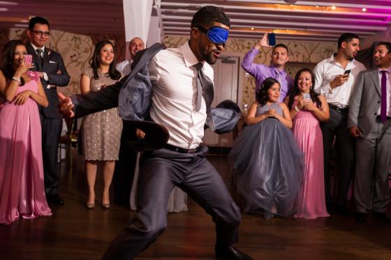 blindfolded dancer