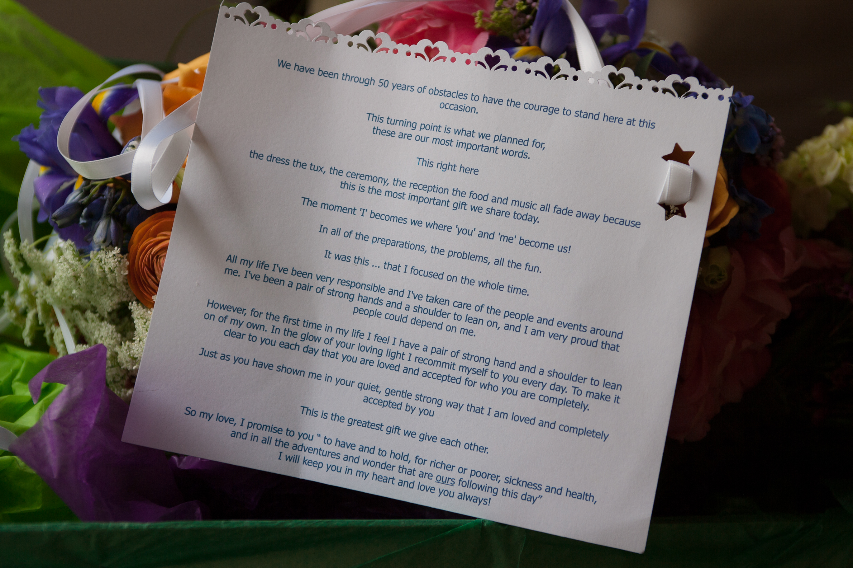Mandy & Rich's Wedding Vows at the Rhinecliff Hotel