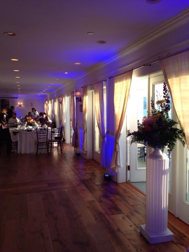 Mandy & Rich's Wedding DJ Uplighting at the Rhinecliff Hotel