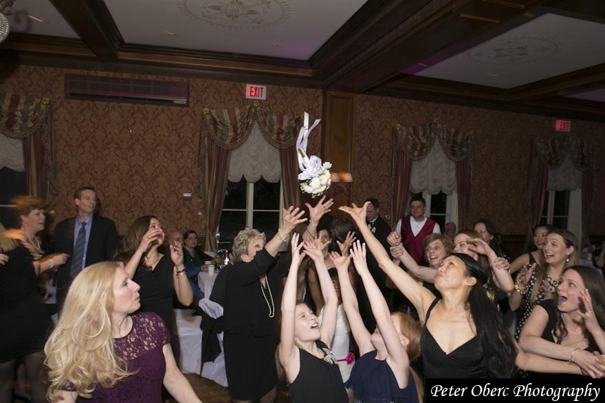 Rowsley Estate Wedding- bouquet toss