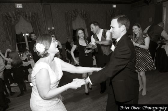 Rowsley Estate Wedding- bride and groom dancing