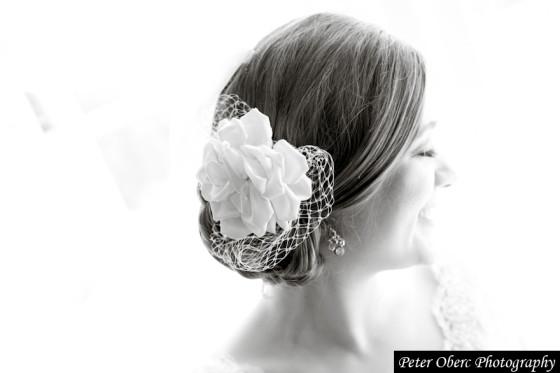 Rowsley Estate Wedding- bride hair piece