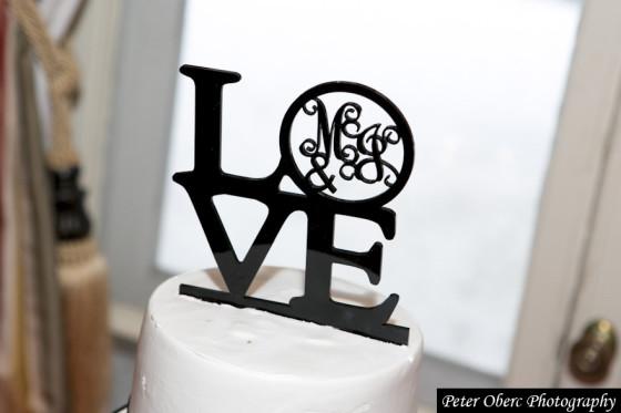 Rowsley Estate Wedding cake topper