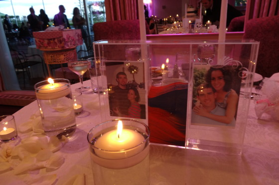 Christina & Jason's wedding centerpiece - APB Entertainment