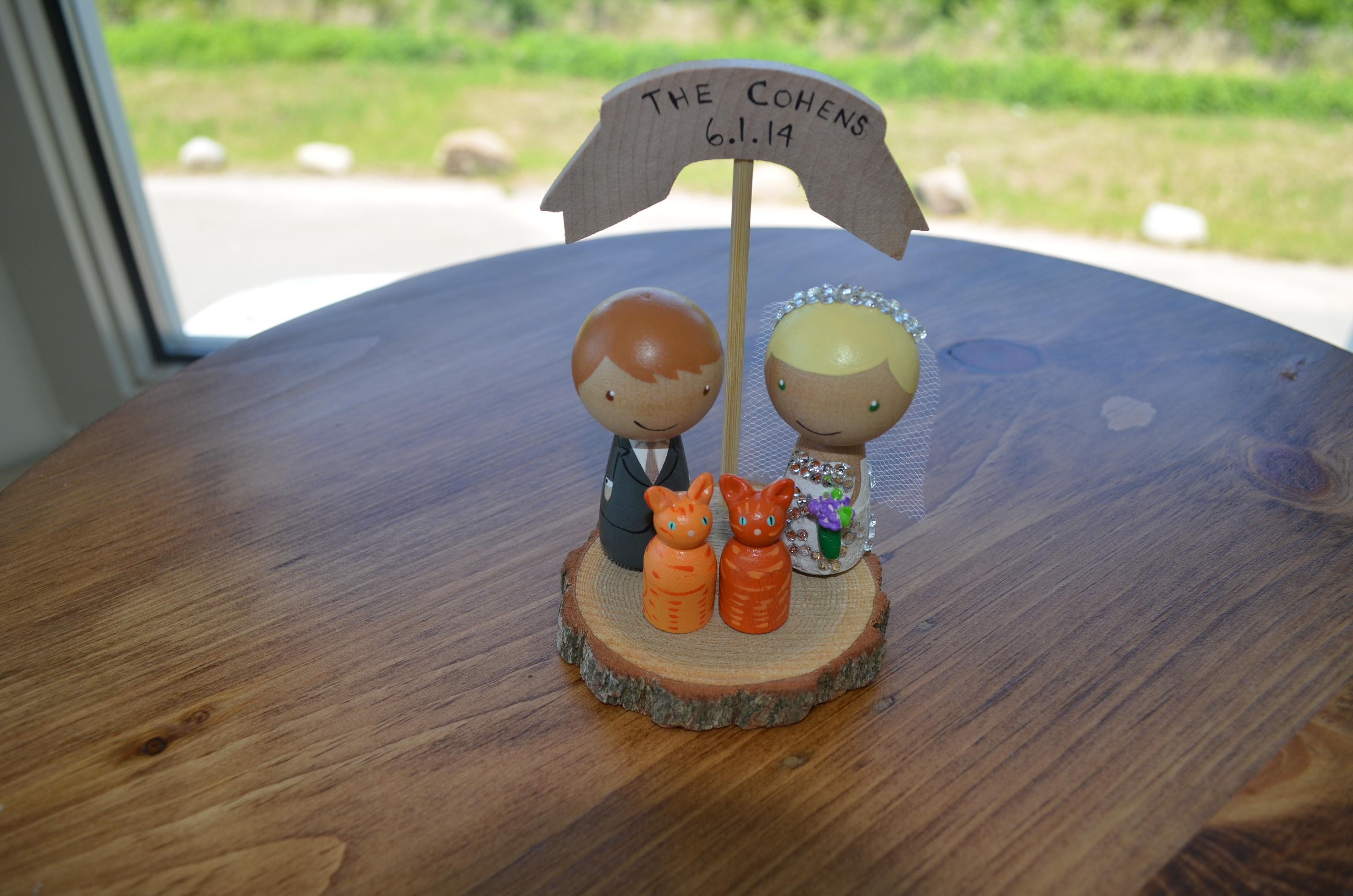 The Garrison Wedding Cake Topper