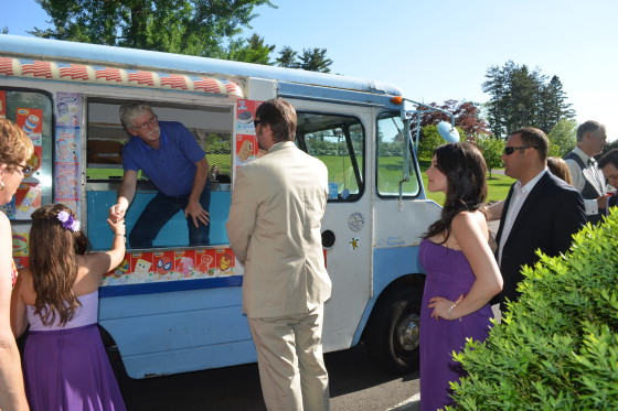 The Garrison Wedding Reception Ice Cream Truck