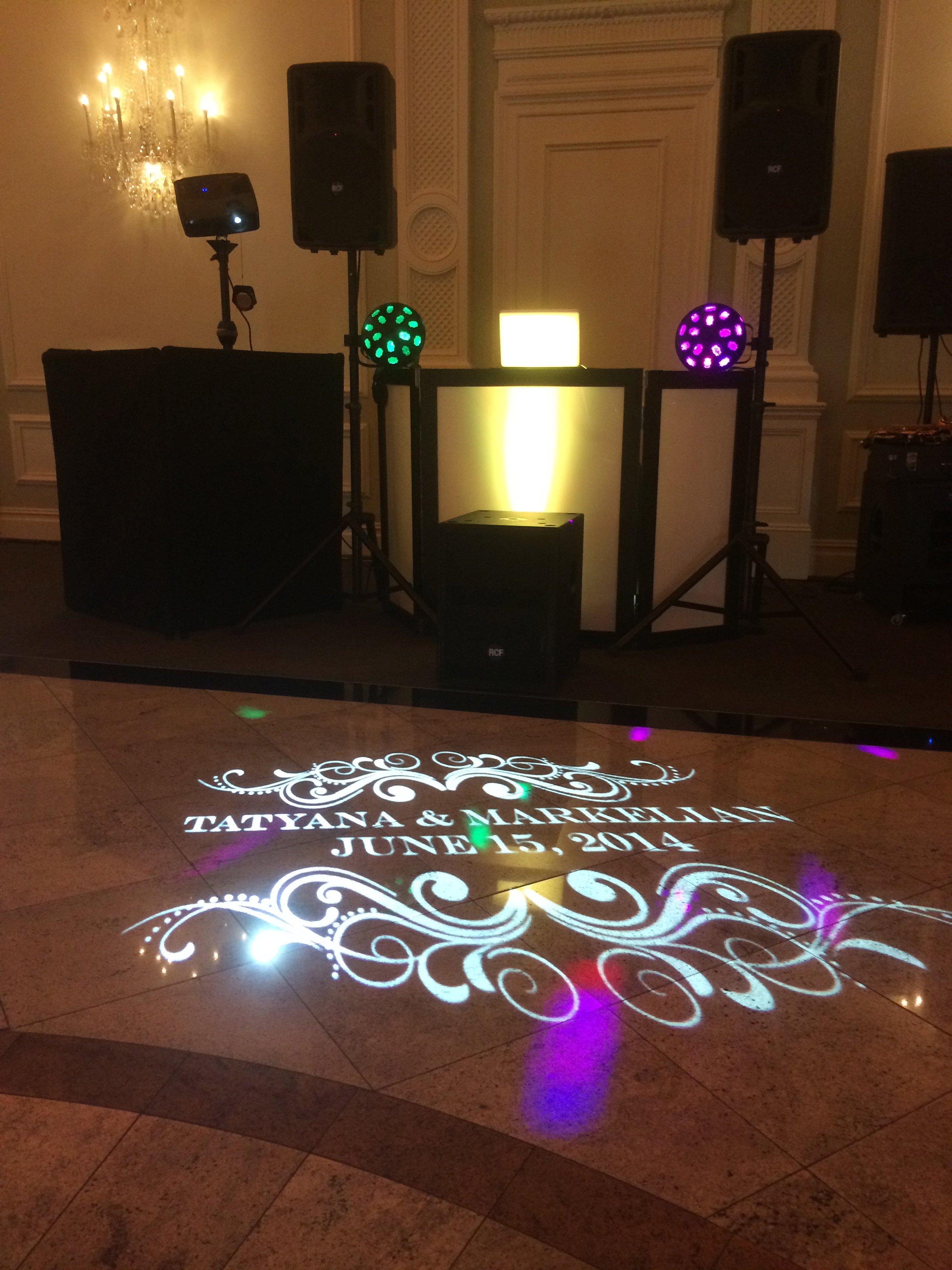 Rockleigh Country Club, New Jersey Wedding Projected Monogram