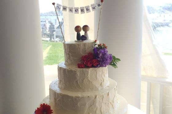 Wedding Cake Snapper Inn Wedding