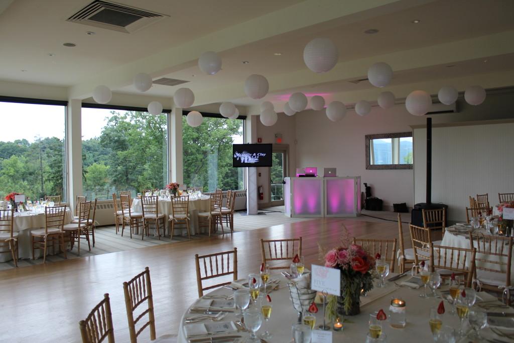 garrison - wedding dj set up