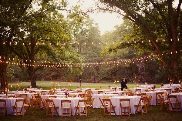 string lighting, lighting wedding, 2016 wedding trends, wedding