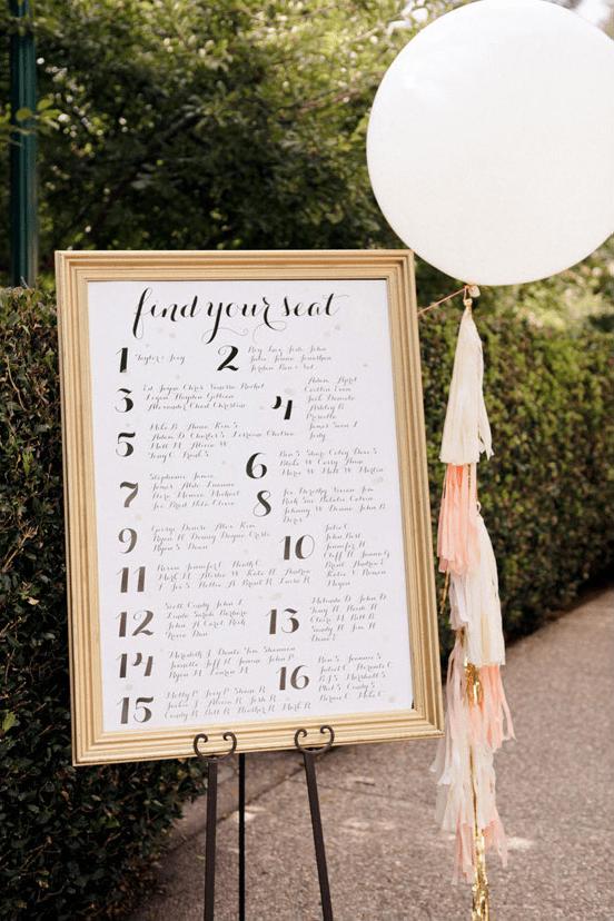 Creating a wedding seating chart junglespirit Images