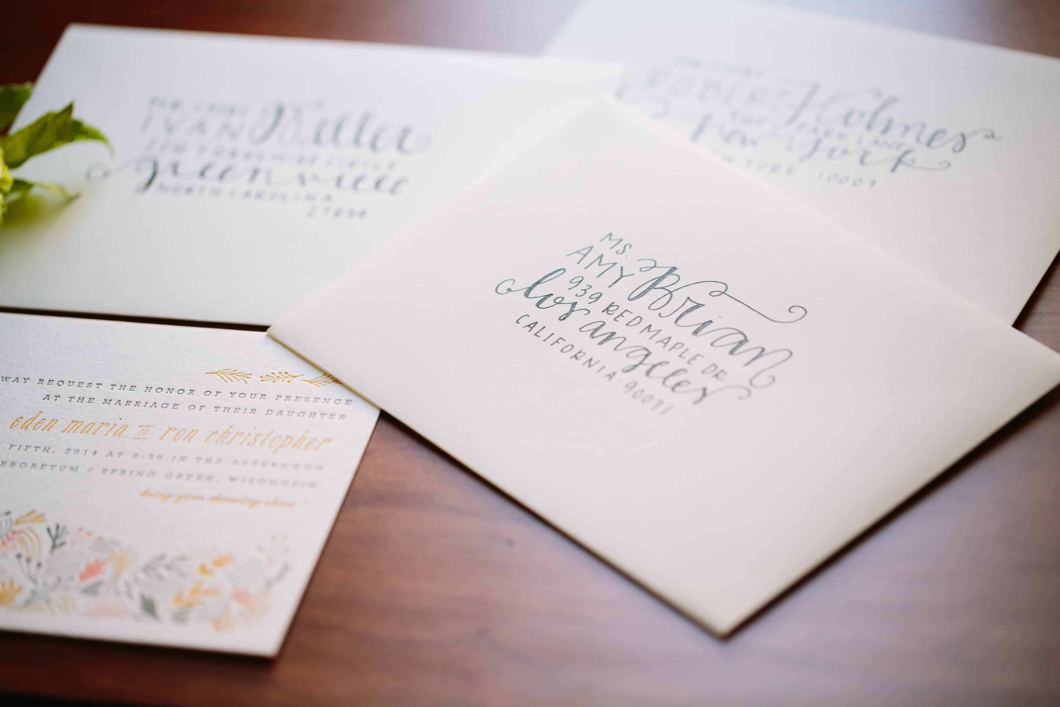 How to Address Wedding Invitations -