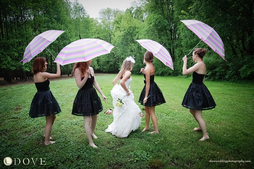 Wedding superstitions rainy wedding day bridesmaid umbrellas rainy wedding day wedding rain hudson valley dj wedding dj junglespirit Choice Image