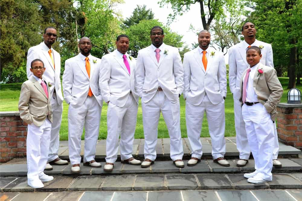 white tux, groomsmen, Wedding vendor dress code, Hudson Valley DJ, Wedding DJ Hudson Valley, Westchester DJ, Westchester Wedding DJ, Wedding DJ company, http://www.apbentertainment.com, Great wedding dj, wedding ceremony dj, Photo booth, wedding lighting, wedding uplighting, wedding photo booth, apb entertainment, a perfect blend entertainment dj