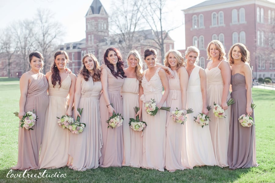 How To: Mismatched Bridesmaid Dresses