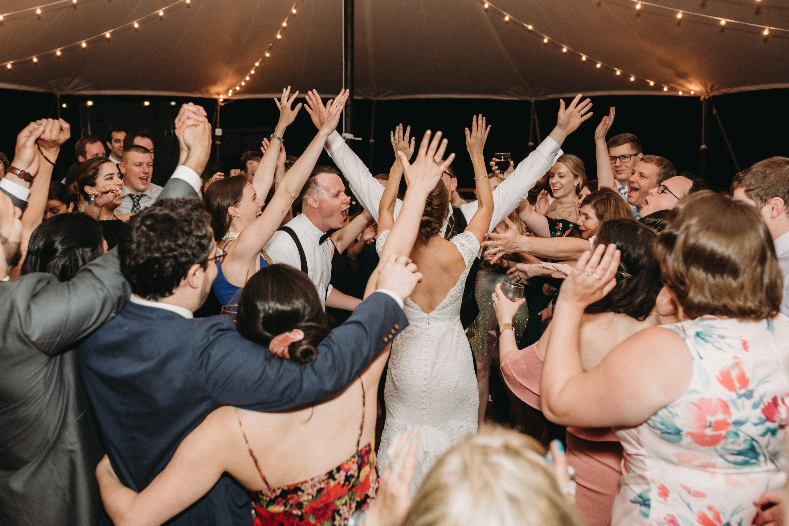 Tent wedding dance floor