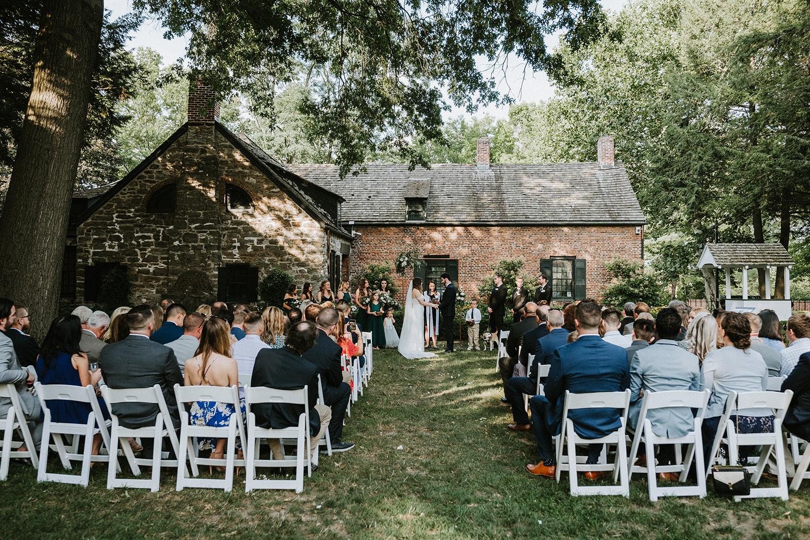 Outdoor Wedding Ceremony Senate Garage Kingston NY